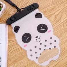 BuyBuy Shop 2 Pcs Kartun Cute Bear Waterproof Pouch Tas Ponsel dengan Strap Dry Pouch Kasus Cover untuk Universal Telepon untuk IPhone Samsung OPPO-Intl