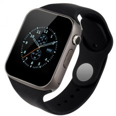 BUYINCOINS A1 Bluetooth Jam Tangan Pintar untuk ponsel sobat Android IOS iPhone smartphone (Hitam)