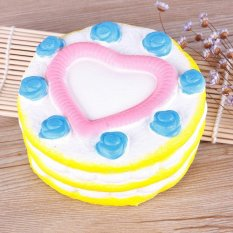 Jual Beli Online Buyincoins Indah Jantung Kue Lembut Empuk Mainan Simulasi Roti Ponsel Pesona Kunci Tali Kuning Intl