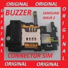 BUZZER + CONNECTOR SIM SAMSUNG S8530 (WAVE 2) (FULLSET) ORI (701419)