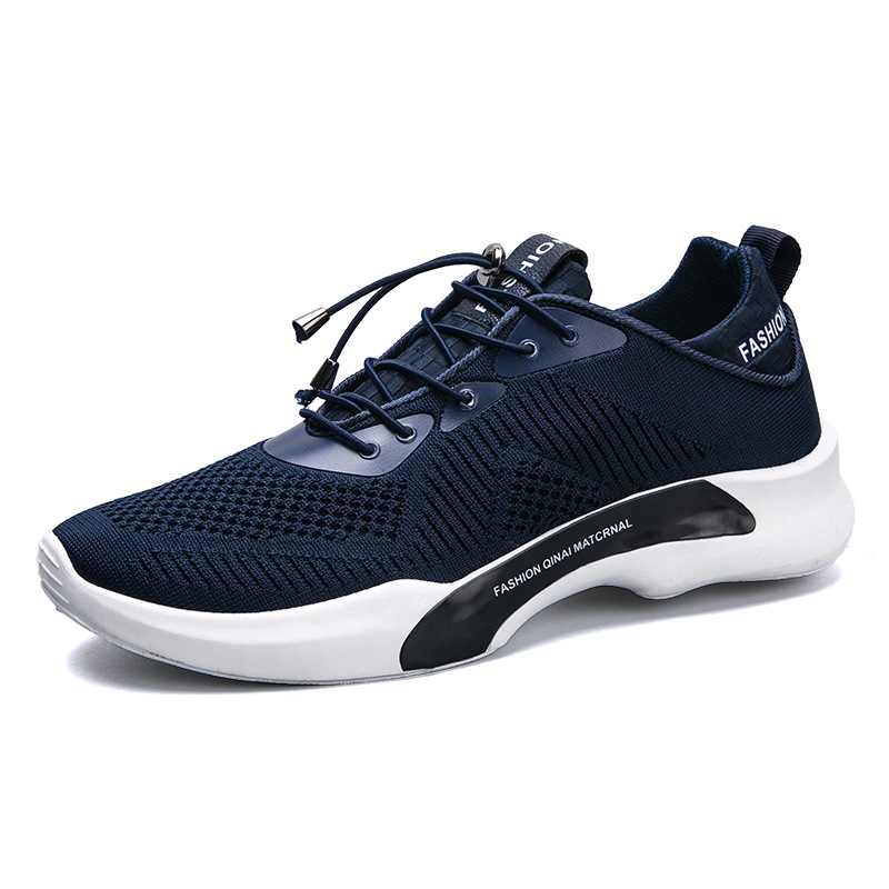 Toko Byl Men Fashion Bernapas Mesh Sneakers Running Flats Sepatu Biru Termurah