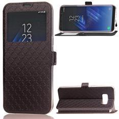 BYT Case Penutup Kulit Flip untuk Samsung Galaxy S8 Plus dengan Window View- Intl
