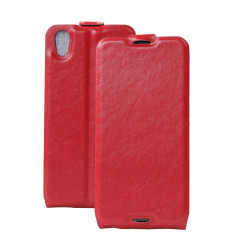 BYT PU Leather Flip Cover Case untuk BlackBerry DTEK50 (Merah)