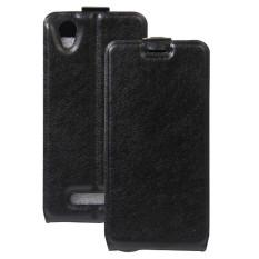 BYT PU Leather Flip Cover Case untuk ZTE Blade A452 (Hitam)