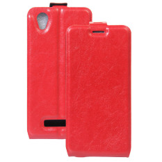 BYT PU Leather Flip Cover Case for ZTE Blade A452 (Red)