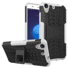 BYT Kasar Dazzle Case untuk Huawei Honor Holly 3/Honor 5A dengan Kickstand (putih)-Intl
