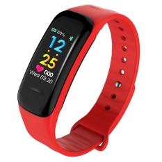 C1 PLUS Gelang Jantung Kecepatan Tekanan Darah Pemantauan Bluetooth Tahan Air Olahraga Pintar Jam Tangan untuk IOS dan Android Telepon-Internasional