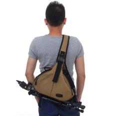 Ulasan Tentang Caden K1 Nylon Camera Shoulder Bag With Rain Cover For Sony Nikon Kamera Khaki