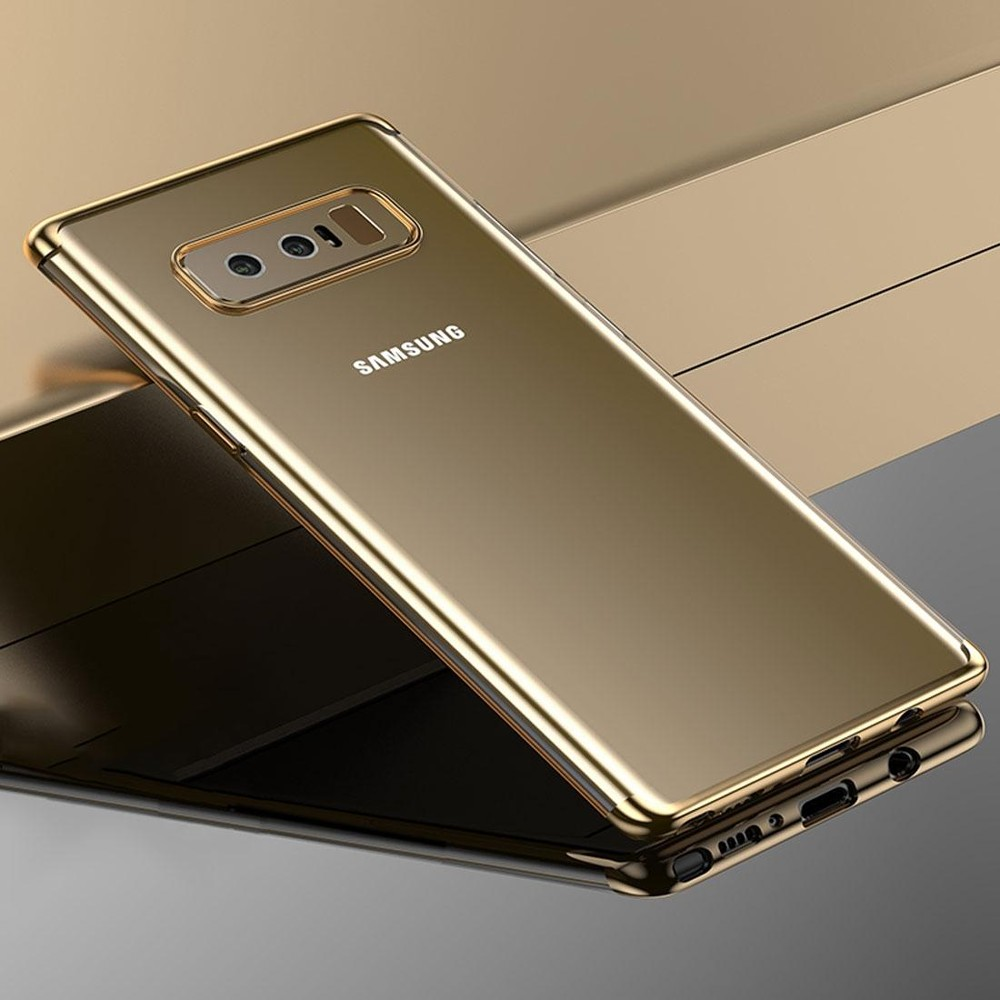 Beli Cafele For Samsung Galaxy Note 8 Color Electroplating Tpu Soft Protective Back Cover Case Gold Intl Cicilan