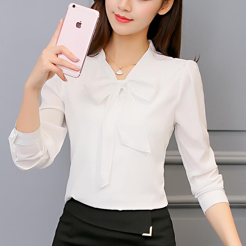 Harga Caidaifei Korea Fashion Style Musim Semi Dan Musim Panas Baru Slim Lengan Panjang Kemeja Putih Baju Wanita Baju Atasan Kemeja Wanita Blouse Wanita Oem Tiongkok