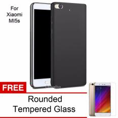 Calandiva 360 Degree Protection Slim Hardcase Premium Quality Grade A for Xiaomi MI 5s – Hitam + Rounded Tempered Glass