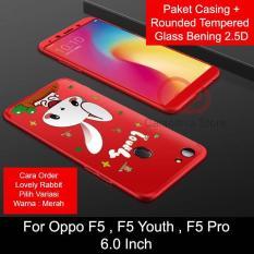 Rp 84.900. Calandiva Cute Rabbit Premium Front Back 360 Degree Full Protection Case ...