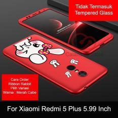 Calandiva Cute Rabbit Premium Front Back 360 Degree Full Protection Case For Xiaomi Redmi 5 Plus 5 99 Inch Diskon Jawa Barat
