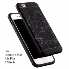 Calandiva Dragon Shockproof Hybrid Case for Iphone 6 Plus / 6s Plus 5.5 Inch - Hitam