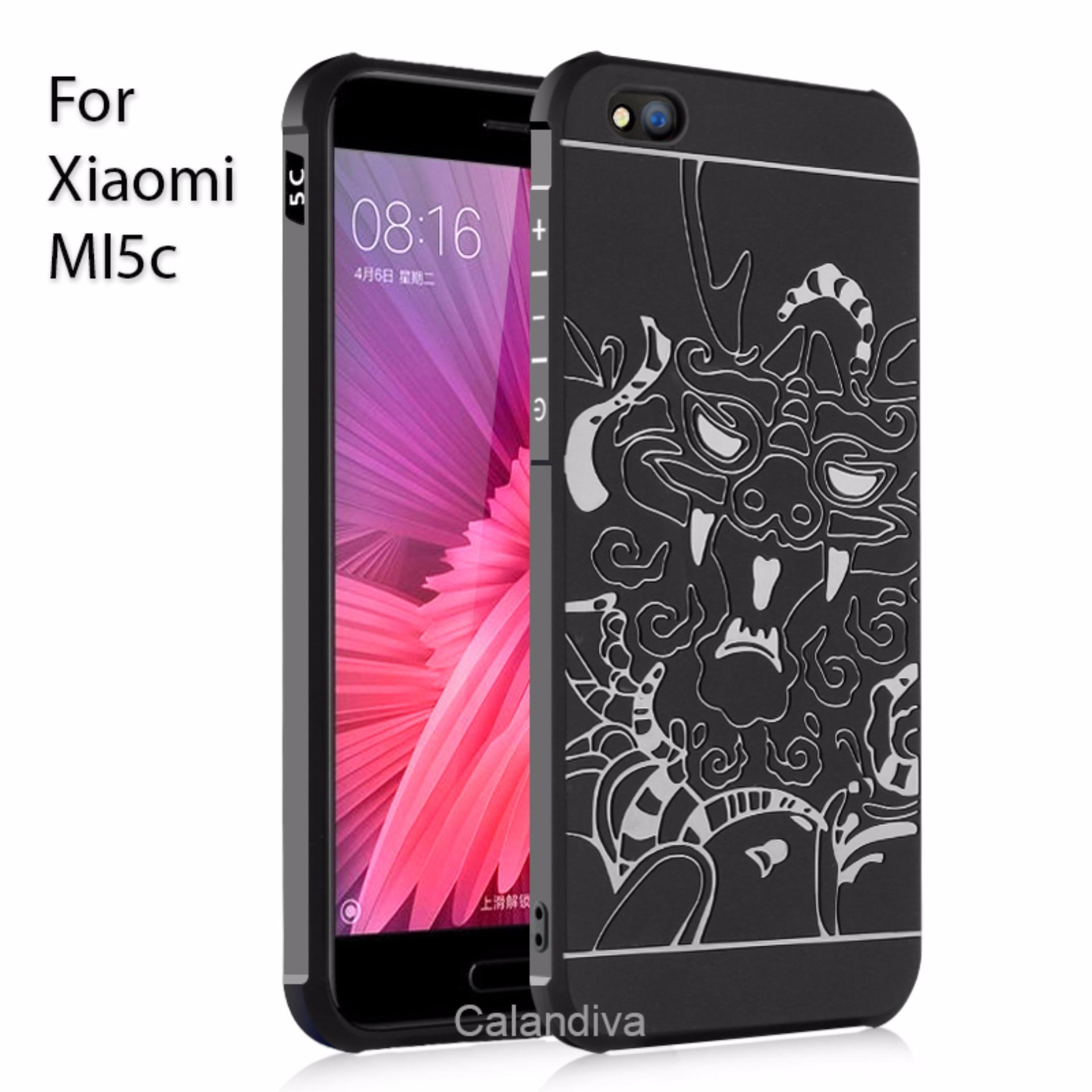 Toko Calandiva Dragon Shockproof Hybrid Case For Xiaomi Mi 5C Hitam Termurah