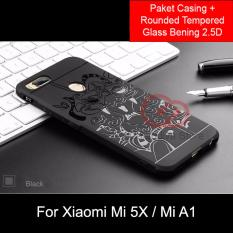 Harga Calandiva Dragon Shockproof Hybrid Case For Xiaomi Mi A1 Mi 5X 5 5 Inch Rounded Tempered Glass Online Jawa Barat