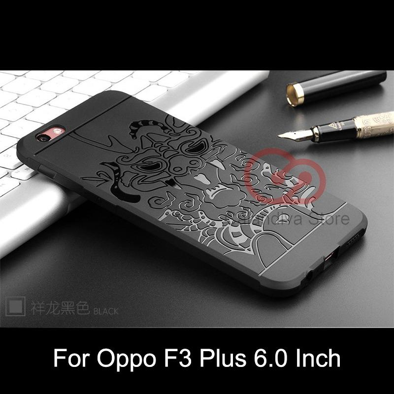 Harga Hemat Calandiva Dragon Shockproof Hybrid Case Untuk Oppo F3 Plus 6 Inch Hitam