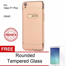 Rp 50.900. Calandiva Premium Quality Elegance Protection Hardcase for Oppo F1 Plus / R9 5.5 Inch - Gold + Rounded Tempered GlassIDR50900