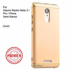 Calandiva Premium Quality Elegance Protection Hardcase for Xiaomi Redmi Note 3 / Pro / Prime versi Kenzo - Gold