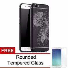 Toko Jual Calandiva Fish Slim Hybrid Case For Oppo F1S A59 A59S 5 5 Inch Hitam Rounded Tempered Glass