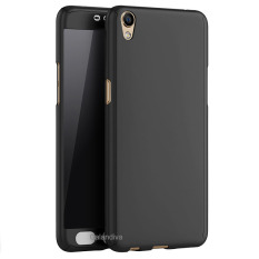 Calandiva Front Back Protection Case 360 Degree With Tempered Glass for Oppo F1 plus / R9 – Hitam