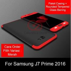 Review Toko Calandiva Premium Front Back 360 Degree Full Protection Case Quality Grade A For Samsung Galaxy J7 Prime On7 Prime G610F Rounded Tempered Glass Online
