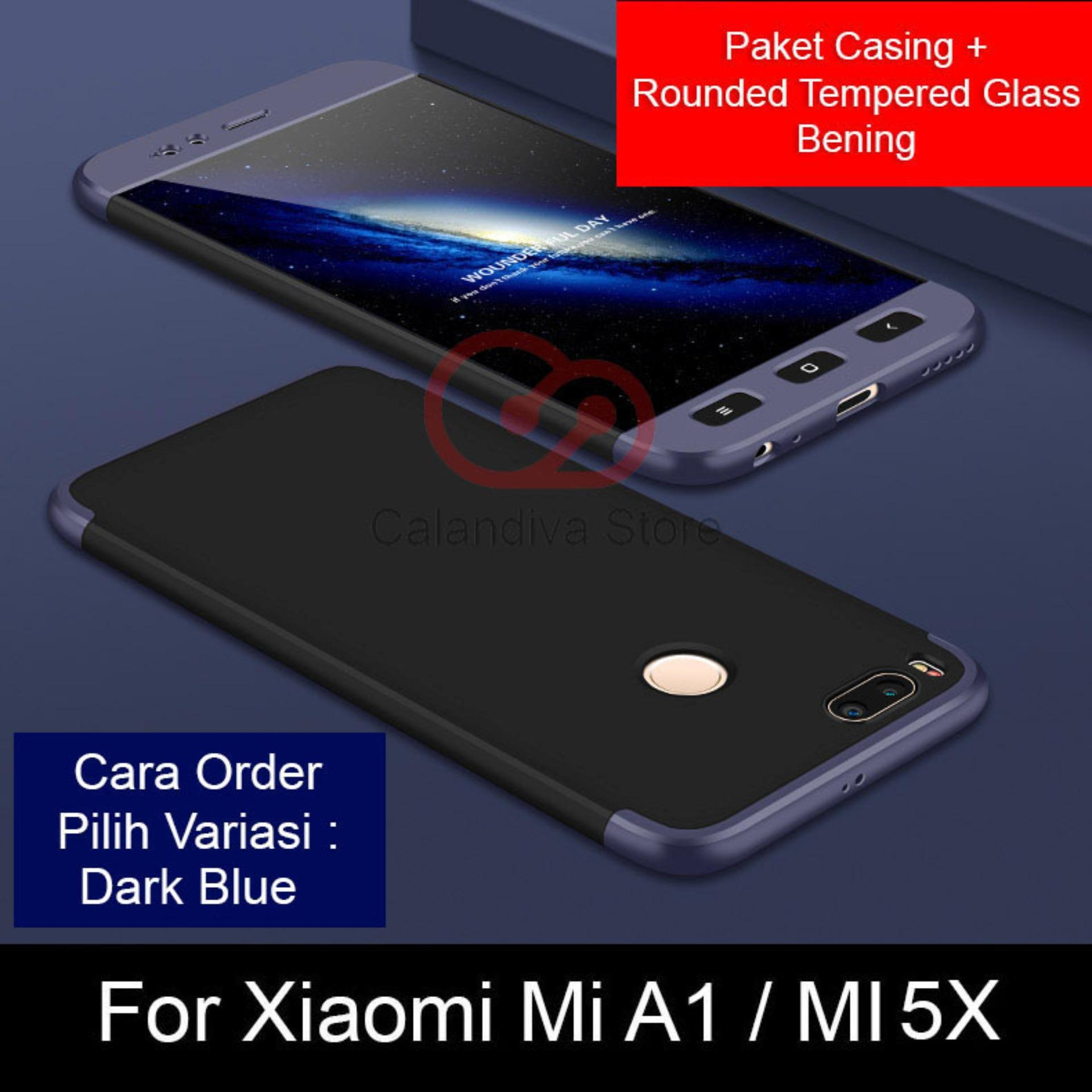 Review Calandiva Premium Front Back 360 Degree Full Protection Case Quality Grade A For Xiaomi Mi A1 Mi 5X 5 5 Inch Sama Ukuran Rounded Tempered Glass 2 5D Bening Di Jawa Barat