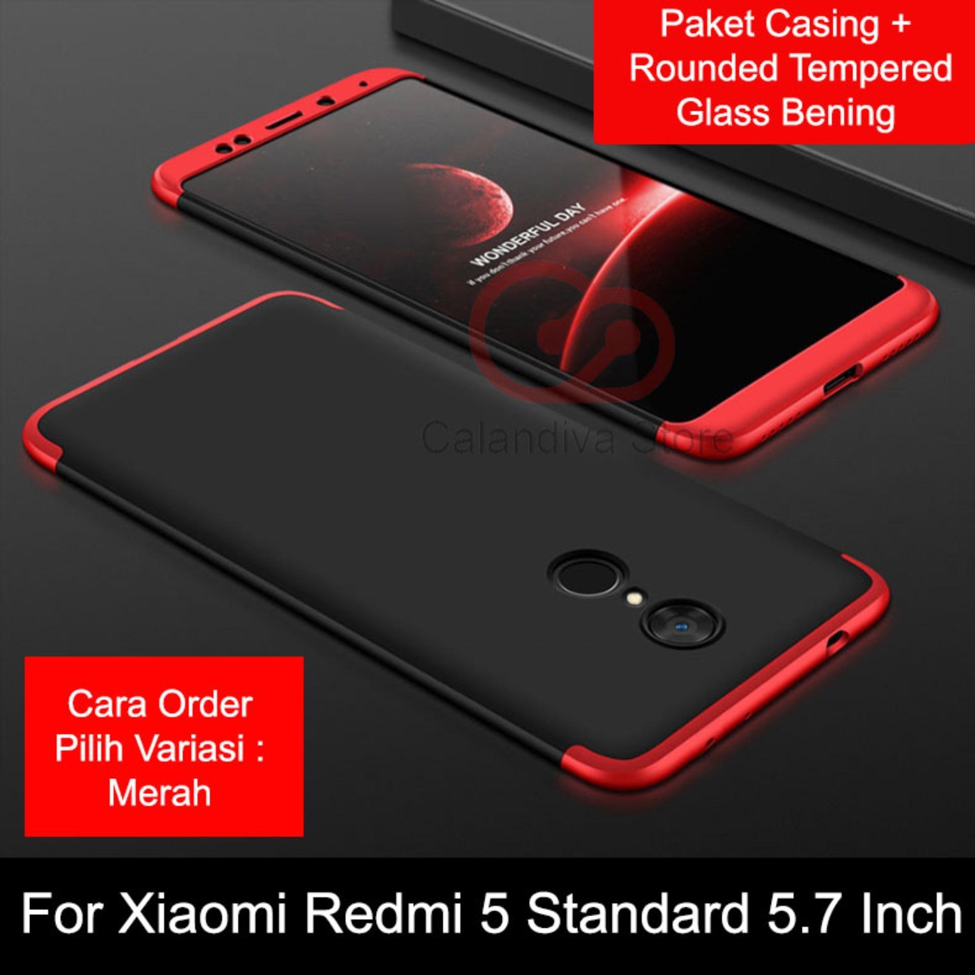 Toko Calandiva Premium Front Back 360 Degree Full Protection Case Quality Grade A For Xiaomi Redmi 5 5 7 Inch Tempered Glass 2 5D Bening Termurah Jawa Barat