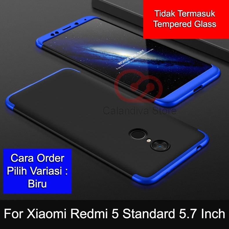 Spesifikasi Calandiva Premium Front Back 360 Degree Full Protection Case Quality Grade A For Xiaomi Redmi 5 5 7 Inch