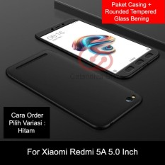 Harga Calandiva Premium Front Back 360 Degree Full Protection Quality Grade A Case Quality Grade A For Xiaomi Redmi 5A 5 Inch Tempered Glass 2 5D Bening Lengkap