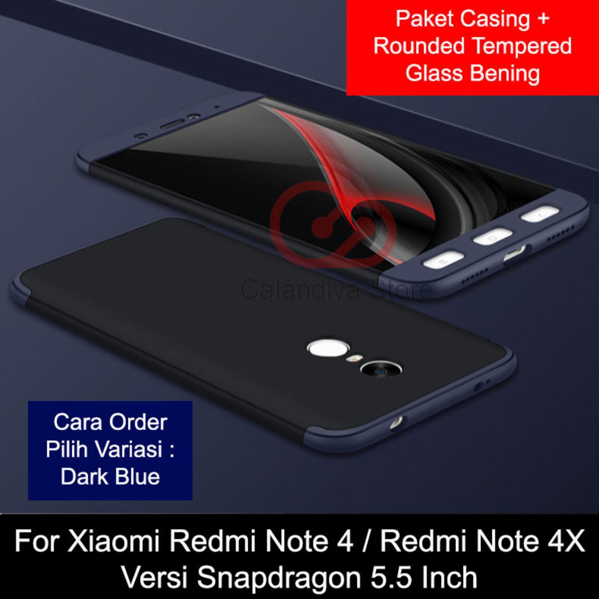 Calandiva Case Xiaomi Redmi Note 4X Snapdragon , Redmi Note 4 Snapdragon (5.5 inch) (sama ukuran) Casing Premium Front Back 360 Degree Full Protection + ...