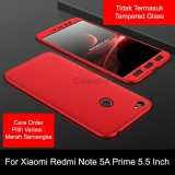 Beli Calandiva Premium Front Back 360 Degree Full Protection Case Quality Grade A For Xiaomi Redmi Note 5A Prime Redmi Y1 5 5 Inch Sama Ukuran Murah