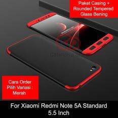Review Calandiva Premium Front Back 360 Degree Full Protection Case Quality Grade A For Xiaomi Redmi Note 5A Standard Redmi Y1 Lite 5 5 Inch Sama Ukuran Tempered Glass 2 5D Bening Terbaru
