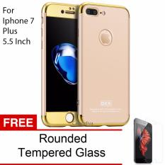 Jual Calandiva Premium Chrome Front Back 360 Degree Full Protection Case With Tempered Glass For Iphone 7 Plus 5 5 Inch Gold Import