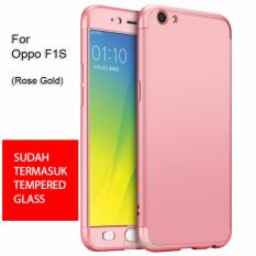 Harga Calandiva Premium Front Back 360 Degree Full Protection Case Quality Grade A For Oppo F1S A59 A59S 5 5 Inch Rose Gold Tempered Glass Asli