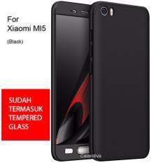 Review Calandiva Premium Front Back 360 Degree Full Protection Case Quality Grade A For Xiaomi Mi 5 Mi 5 Pro Sama Ukuran Black Tempered Glass 2 5D Bening Terbaru