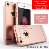 Toko Calandiva Premium Quality Elegance Protection Hardcase For Iphone 5 5S 5 Se Rounded Tempered Glass Lengkap