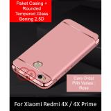 Calandiva Premium Quality Elegance Protection Hardcase For Xiaomi Redmi 4X Redmi 4X Prime 5 Inch Rounded Tempered Glass Asli