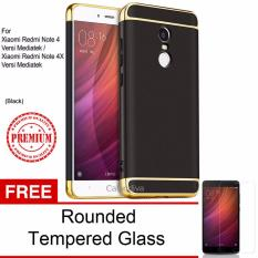Jual Calandiva Premium Quality Elegance Protection Hardcase For Xiaomi Redmi Note 4 Mediatek Redmi Note 4X Mediatek 5 5 Inch Black Rounded Tempered Glass Murah