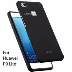 Calandiva Shockproof Hybrid Premium Quality Grade A Softcase for Huawei P9 Lite / G9 Lite - Hitam
