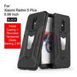 Calandiva Transformer Kickstand Slim Armor Hardcase For Xiaomi Redmi 5 Plus 5 99 Inch Rounded Tempered Glass 2 5D Bening Diskon Jawa Barat