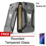 Review Toko Calandiva Transformer Kickstand Slim Armor Hardcase For Xiaomi Redmi 4X Redmi 4X Prime 5 Inch Rounded Tempered Glass Online
