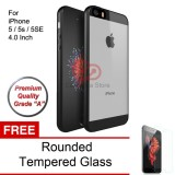 Model Calandiva Transparent Shockproof Hybrid Premium Quality Grade A Case For Iphone 5 5S 5Se 4 Inch Sama Ukuran Hitam Rounded Tempered Glass 2 5D Bening Terbaru