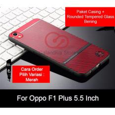 Rp 64.900. Calandiva Gentleman Series Shockproof Hybrid Case for Oppo F1 Plus / R9 5.5 Inch + Rounded Tempered GlassIDR64900. Rp 72.000