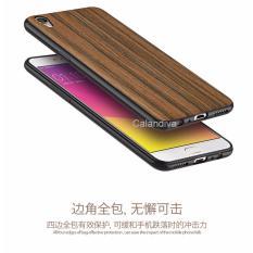Calandiva Wood Texture Slim Softcase for Oppo F1 Plus / R9 - Coklat
