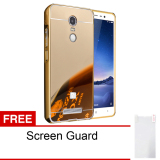 Calandiva Xiaomi Redmi Note 3 Mirror Backcase With Metal Bumper Gold Gratis Screenguard Calandiva Diskon 30