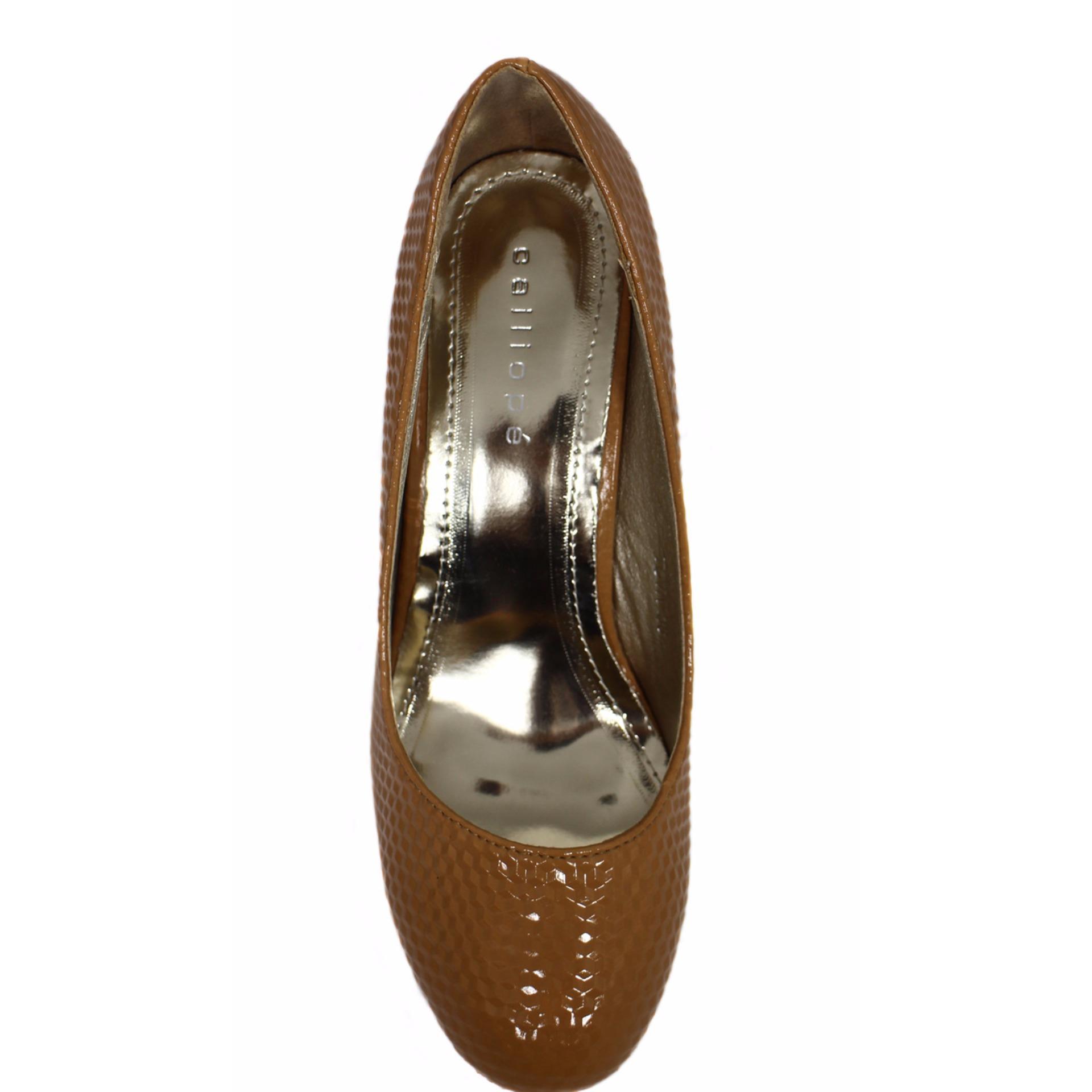 Toko Calliope Tova Sepatu Wanita Brown Lengkap