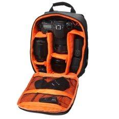 Ransel Tas Kamera DSLR Tahan Air Case dengan Carabiner untuk Canon Orange-Intl