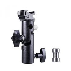 Kilat Kamera Penyangga Speedlite Berdiri dan Tempat Payung Mount, 180��? putar, E-Tipe Flash Sepatu Panas Untuk Kamera DSLR Nikon Canon Pentax Olympus dan DSLR Berkedip Lampu Studio-Intl