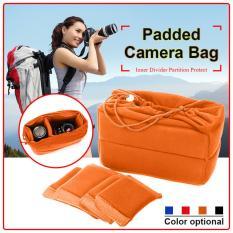 Camera Insert Bag Protect Package Case Partition Padded For Dslr Slr Lens Asli